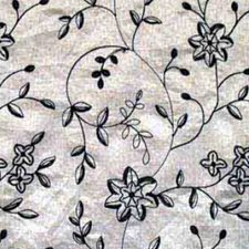 White/Black Drapery and Upholstery Fabric by RM Coco
