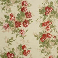 Pink/Green Silk Drapery and Upholstery Fabric by Mulberry Home