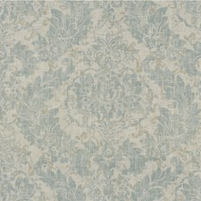 Light Blue/Ivory/Beige Botanical Drapery and Upholstery Fabric by Kravet