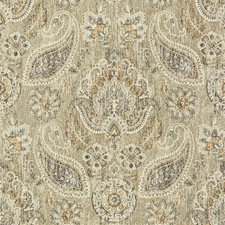 Grey/Taupe/Beige Paisley Drapery and Upholstery Fabric by Kravet