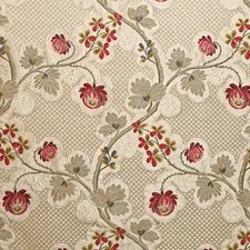 Strawberry Cream Drapery and Upholstery Fabric by Scalamandre