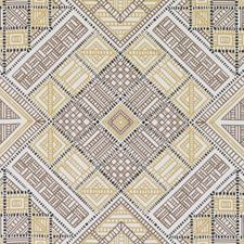 Black/Gold Diamond Drapery and Upholstery Fabric by Duralee