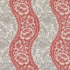 Red Floral Vine Drapery and Upholstery Fabric by Duralee