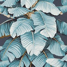 Metal Botanical Drapery and Upholstery Fabric by Duralee