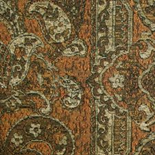 Brown Rust Drapery and Upholstery Fabric by RM Coco