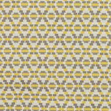 Gold Gray Drapery and Upholstery Fabric by RM Coco