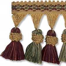 Tassel Fringe Burgundy/Red/Yellow Trim by Kravet