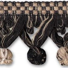 Tassel Fringe Black/Beige Trim by Kravet