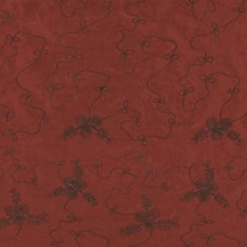 Coral Red Drapery and Upholstery Fabric by RM Coco