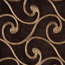 Chocolate/Gold Drapery and Upholstery Fabric by RM Coco