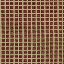 Wine Geometric Drapery and Upholstery Fabric by Lee Jofa