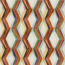 White/Orange/Multi Modern Drapery and Upholstery Fabric by Kravet