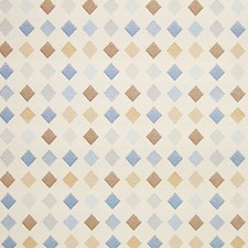 Blue/Multi/Pearl Drapery and Upholstery Fabric by Scalamandre