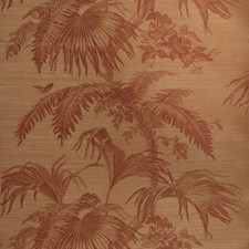 Cinnabar On Sienna Leaves Wallcovering by Stroheim Wallpaper