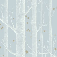 Powder Blue Wallcovering by Cole & Son Wallpaper