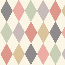 Coral/Grn Wallcovering by Cole & Son Wallpaper
