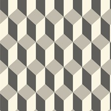 Grey and Black Print Wallcovering by Cole & Son Wallpaper
