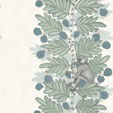 Blue/Green Print Wallcovering by Cole & Son Wallpaper