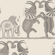 Pale Stone/Grey Print Wallcovering by Cole & Son Wallpaper