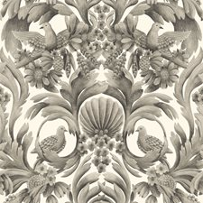 Soot/Ston Damask Wallcovering by Cole & Son Wallpaper