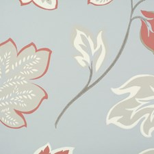Blue/Brown/Burgundy Transitional Wallcovering by JF Wallpapers