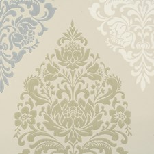 Blue/Creme/Beige Transitional Wallcovering by JF Wallpapers