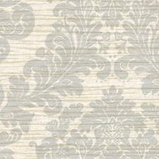 Blue Damask Wallcovering by Brewster