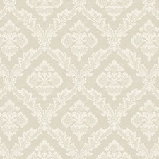 Pink Pearl/Chalk White Damask Wallcovering by York