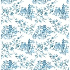 Blueberry Toile Wallcovering by Brewster