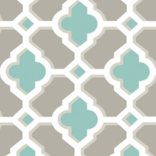 Turquoise Trellis Wallcovering by Brewster