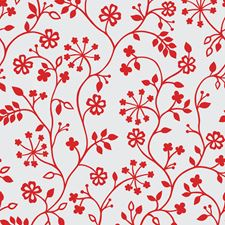 338-0014 Winters Garden Red Window Film by Brewster