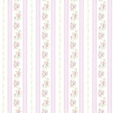 414-56030 Princess Lavender Floral Stripe by Brewster