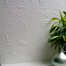 Paintable Tile Wallcovering by Brewster