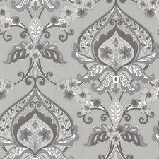 Grey Modern Wallpaper Wallcovering by Brewster