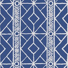 Navy Geometric Wallcovering by Stroheim Wallpaper