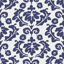Navy Floral Wallcovering by Stroheim Wallpaper