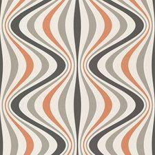 Orange Modern Wallpaper Wallcovering by Brewster
