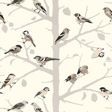 Winter Wallcovering by Schumacher Wallpaper