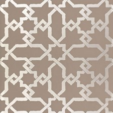Taupe/Silver Wallcovering by Schumacher Wallpaper