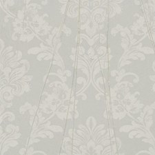 Gray/Brown/Off White Damask Wallcovering by York