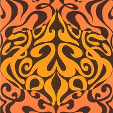 Orange Wallcovering by Cole & Son Wallpaper