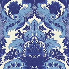 Blue/White Wallcovering by Cole & Son Wallpaper