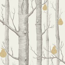 Charcl/Lin/Gld Botanical Wallcovering by Cole & Son Wallpaper