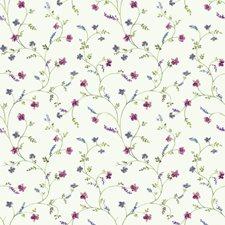 White/Green/Blue Botanical Wallcovering by York
