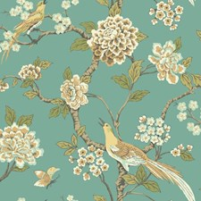 Blue/Brass/Green Animals Wallcovering by York