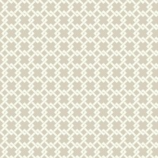 Gray/White Traditional Wallcovering by York