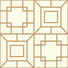 Gold/White Bohemian Wallcovering by York