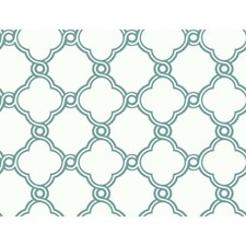 Teal/White Wall Décor Wallcovering by York