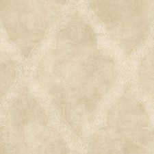 Pearl Tan/Cream Trellis Wallcovering by York