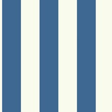 Bright Blue/White Stripes Wallcovering by York